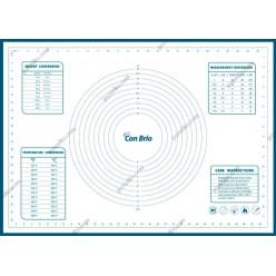 Кондитеру Лист для випічки з розміткою синій 700 х500 мм (Con Brio)