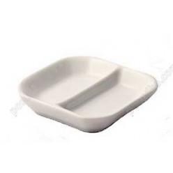 Alt porcelain Менажниця для соусів з 2 секціями квадратна 80 х80 мм, h-20 мм 16 мл (Alt porcelain)