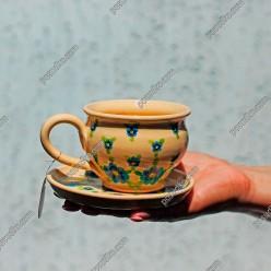 Синій Прованс Чашка для кави з блюдцем 200 мл (Поділля)