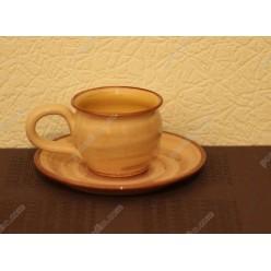 Смугаста Чашка для кави з блюдцем d-135 мм 120 мл (Поділля)
