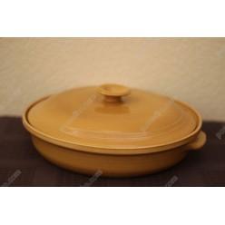 Гірчиця Форма для запікання та випічки кругла з кришкою d-270 мм, h-60 мм 1,5 л (Поділля)