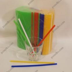 Фреш Трубочки прямі мікс кольорів d-8 мм, L-210 мм (Пласт)
