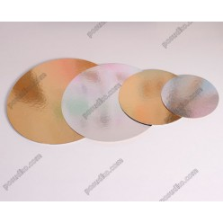 Підложка Підставка з фольгованого картону кругла золото, срібло d-90 мм, 1,2 мм (Україна)