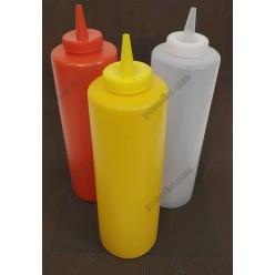 Kitchen Пляшка для соусу, сиропу з носиком жовта d-53 мм, h-170/205 мм 340 мл (Україна)