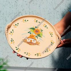 Сонях Блюдо кругле з вушками d-350 мм (Поділля)