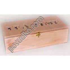 Tea time Ящик для пакетованого чаю 4 відділення 320 х155 мм, h-90 мм (Поділля)