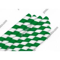 Еко Трубочки паперові прямі індивідуально запаковані зелена смужка d-8 мм, L-200 мм (Україна)
