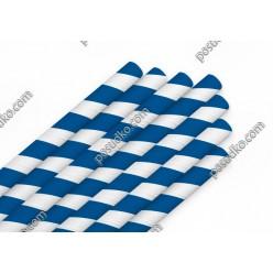 Еко Трубочки паперові прямі індивідуально запаковані синя смужка d-8 мм, L-200 мм (Україна)