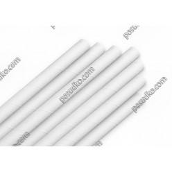 Еко Трубочки паперові прямі білі d-10 мм, L-230 мм (Україна)