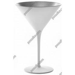Olympic Келих для мартіні білий з срібним d-115 мм, h-173 мм 240 мл (Stoelzle)