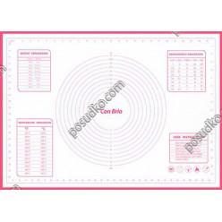 Кондитеру Лист для випічки з розміткою червоний 700 х500 мм (Con Brio)