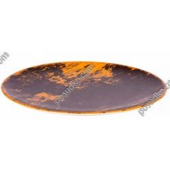 Monaco Тарілка кругла без поля мілка золот візер d-260 мм (Ipec)