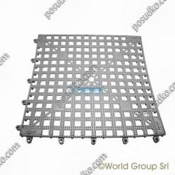 Спіл-стоп Килимок барний гумовий широкий сріблястий 330 х330 мм (The bars)