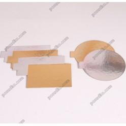 Підложка Підставка з фольгованого картону кругла з вушком золото, срібло d-80 мм, T-1,2 мм (Україна)