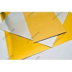 Підложка Підставка з фольгованого картону квадратна золото, срібло 100 х100 мм, 1,2 мм (Україна)