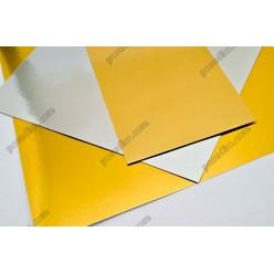 Підложка Підставка з фольгованого картону квадратна золото, срібло 250 х250 мм, 1,2 мм (Україна)