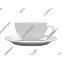 Ameryka Блюдце під чашку 350, 450 мл біле d-165 мм, h-21 мм (Lubiana)