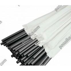 Tube bar Трубочки з коліном в індивідуальній упаковці чорні d-4,8 мм, L-210 мм (Пласт)