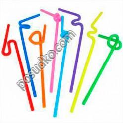 Artist Трубочки з довгою гофрою мікс кольорів d-5 мм, L-270 мм (Інші бренди)